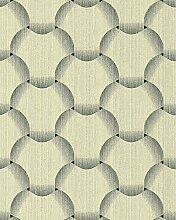 Retro Tapete EDEM 1035-15 Vinyltapete strukturiert mit grafischem Muster glitzernd grün creme-weiß 5,33 m2