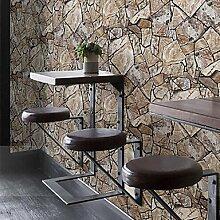Retro Tapeten geometrische Stein Korn Wandverkleidung aus PVC/Vinyl Wall Ar