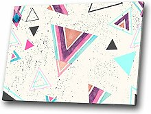 Retro Teal Rosa modernes abstraktes geometrisches