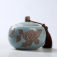 Retro Tee-dose,Keramikplatten Geprägt Sealed Tee