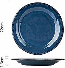 Retro Teller Porzellan Keramik Teller Geschirr