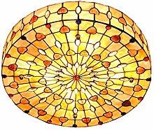Retro Tiffany Stil Trommel Shell Deckenleuchten