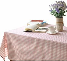 Retro Tischdecke Pink Plaid Tischdecke Rechteckige