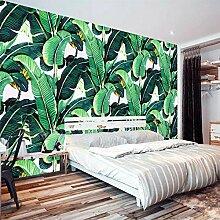 Retro Tropischer Regen Wald Pflanze Bananenblatt