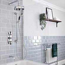 Retro UP Duschsystem mit Wanneneinlauf, Duschkopf,