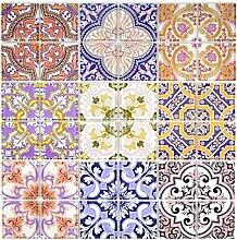 Retro Vintage Mosaik Fliese Transluzent mehrfarben