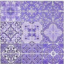 Retro Vintage Mosaik Fliese Transluzent violett