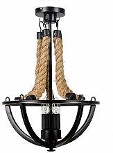 Retro Vintage Seil Pendelleuchte Lampe Loft