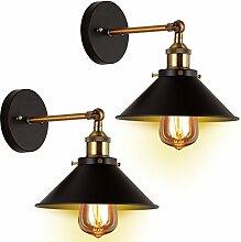 Retro Vintage Wandlampe Verstellbarer Kupferkopf,