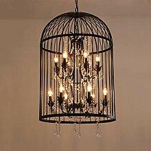 Chic Antique * Gro/ßer Kronleuchter Shabby Antik-Look 31x52 cm Lampe Deckenleuchte