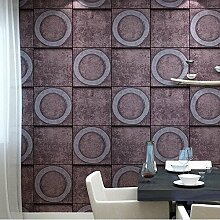 Retro Wallpaper personalisierte Tapete Zimmer Escape Wallpapers amerikanische Wallpaper Restaurants Kleidung Shop Online Hintergrundbilder (0.53x10m) ( Color : 151404 )