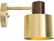 Retro Wandlampe mit Schalter, kreative Massivholz