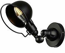 Retro Wandleuchte, Industrie Stil Wandlampe Halter