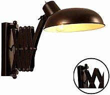 Retro Wandleuchte, Schwarz Wandlampe Vintage