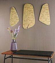Retro Wandspiegel Out Of Balance 3er Set in Silber Gold oder Kupfer (Gold)