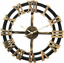 Retro Wanduhr, Likeluk 15,5 Zoll(40cm) Wanduhr Vintage Lautlos Uhr Uhren Wall Clock ohne Tickgeräusche