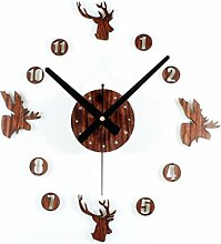 Retro Wanduhr, Likeluk Holz Lautlos Vintage Wanduhr Uhr Uhren Wanduhr Geräuschlos