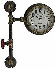 Retro Wanduhr Steampunk-Design 40 x 30 cm,