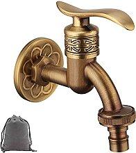 Retro-Wasserhahn aus Messing, Wandmontage,