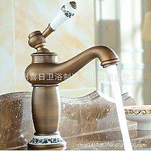 Retro Wasserhahn Becken Heißen Und Kalten
