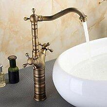 Retro Wasserhahn Warm- Und Kaltwasserhahn Messing