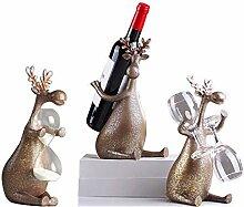 Retro Weinregal Kreative Harz Elch Flaschenhalter