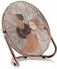 Retro Windmaschine / Ventilator   Standventilator 30cm   hoher Luftdurchsatz   Tischventilator / Bodenventilator   im edlen Kupfer-Design