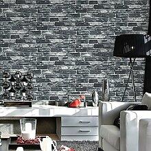 Retro Ziegel Tapeten, moderne chinesische Nostalgie, Wohnzimmer, antike Ziegel, Hintergrund, Tapeten, Coffee Shop, kulturelle Stein, Blau