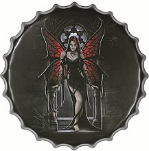 Retro Zinnzeichen Café Bar Pub Metall-Kunstplakat Wandtafel Dekor Flaschendeckel 66