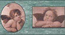 RetroArt Baby Angel Porträts Petrol / Kids