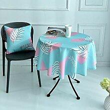 RetroNordic-Art-Rund Lange Tischdecke Einfach