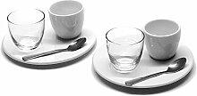 Retsch Arzberg Nice Espresso-Set 8 teilig für 2