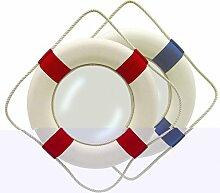 Rettungsring-Spiegel, Ø 50 cm, rot/weiß