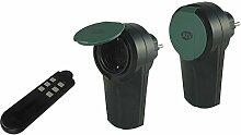 REV Ritter Außen-Funk-Schalt-Set IP44, schwarz-grün, 00836914