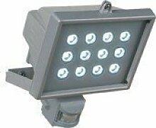 REV Ritter LED-Fluter mit Bewegungsmelder 12-fach silber 0591049555