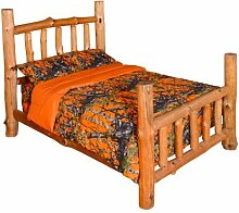 Reversible Woodland Camo Design By Regal Comfort (Orange, Queen / Full) by DI