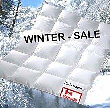Revital extra-warme WINTER Daunendecke 200x200 90% DAUNEN Daunenbettdecke, 1560g Füllgwicht Wärmeklasse 4, MADE IN GERMANY (200x200 cm)