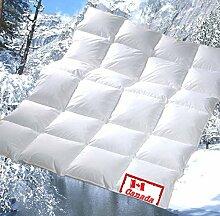 Revital extra-warme Winter Daunendecke 200x220 cm, 100% DAUNEN, Wärmeklasse 4, gefüllt mit 1760g Bettdecke Daunenbett (200x220 cm)