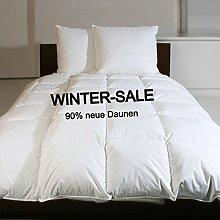 Revital Winter Daunenbett 90% Daunen 1600 g 155x220cm SALE extra-warme Daunendecke 8cm hohe Innenstege Winter Bettdecke