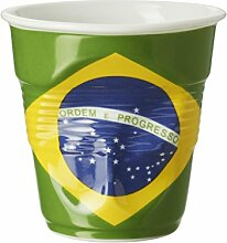 Revol 646858Becher Cappuccino Knittereffekt Porzellan Flagge Brasilien 8,5cm