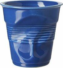 Revol 647697Schmiedeeisen Becher Cappuccino Porzellan blau K 8,5cm