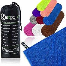 REXOO Microfaser Handtuch Reisehandtuch für