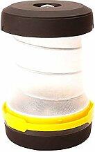 REXSONN® Faltbare Tragbare LED Outdoor Camping Laterne Taschenlampe Zeltlampe Campinglampe 3W 100LM Batteriebetrieb, Wasserdicht, Außenleuchte für Wandern, Angeln,Camping - Gelb
