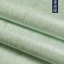 Reyqing Chinesische Nur Wohnzimmer Schlafzimmer Wandfarbe Plain Woven Tapeten, Mint Green, Tapeten