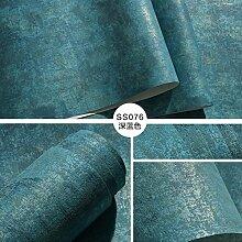 Reyqing Dunkelgrün Tuch Plain Schlafzimmer Wohnzimmer Hintergrund Tapete, Deep Blue Ss076, Upgrade, Tapeten Nur