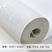 Reyqing  Einfache Und Moderne Wohnzimmer Schlafzimmer Wandfarbe Non-Woven Wallpaper Wallpaper Europäische Ebene, Pearl White 00551, Tapeten Nur
