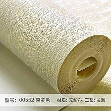 Reyqing  Einfache Und Moderne Wohnzimmer Schlafzimmer Wandfarbe Non-Woven Wallpaper Wallpaper Europäische Ebene, Kanariengelb 00552, Tapeten Nur