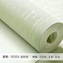 Reyqing  Einfache Und Moderne Wohnzimmer Schlafzimmer Wandfarbe Non-Woven Wallpaper Wallpaper Europäische Ebene, Frische Grüne 00554, Tapeten Nur