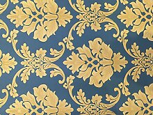 Reyqing Feine Tuch Wallpaper 3D Europäische Floral Feinem Tuch Wallpaper Green Home Dekoration Zimmer, Yta117