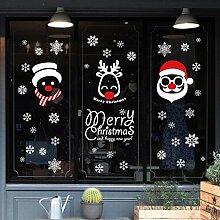 Reyqing Glas Sticker Weihnachten Shop Aufkleber, Weihnachten Schneeflocke (52 Schneeflocken), Große